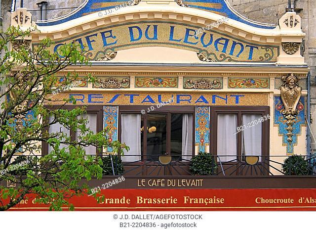 Café du Levant (1890-1910) by the Saint Jean Railway station at Bordeaux, Gironde, Aquitaine, France