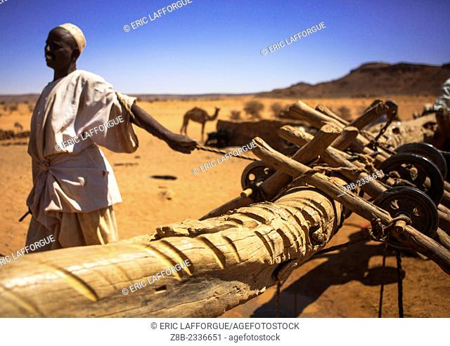 People Taking Water From A Well In The Desert, Naga, Sudan