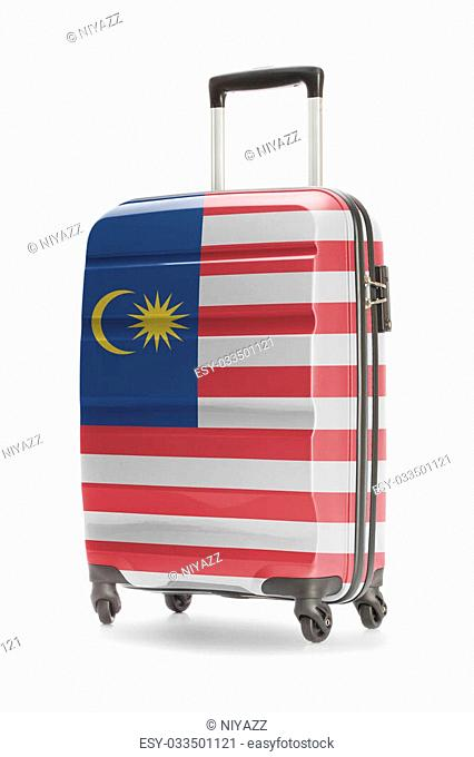 Suitcase painted into national flag - Malaysia