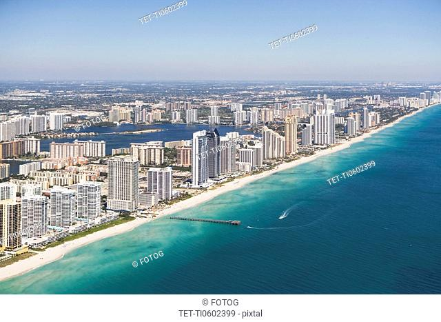 USA, Florida, Miami cityscape as seen from air