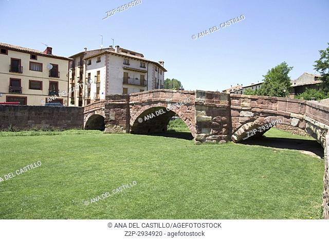 Molina de Aragon village Aragon Spain The ancient bridge