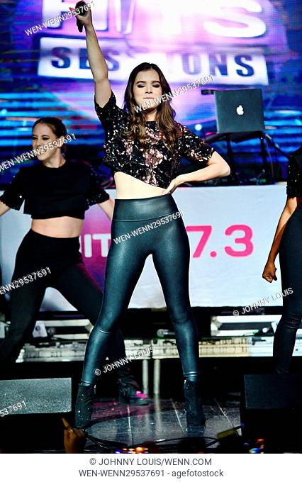 Hailee Steinfeld attends Hits 97.3 Sessions at Revolution Live in Fort Lauderdale Featuring: Hailee Steinfeld Where: Fort Lauderdale, Florida