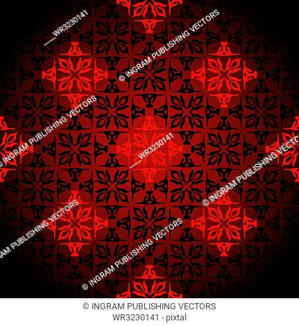Diamond wallpaper background design with seamless pattern in red