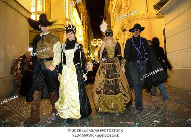 Carnival, People disguised, Cadiz, Spain