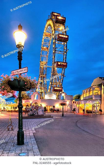 Amusement park, Prater, Vienna, Austria