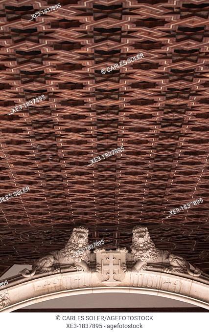 Detail of the cloister of the Monastery of San Juan de los Reyes, Toledo, Spain