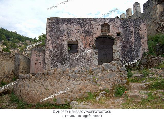 Greek ghost town of Levissi, Karmylassos, Kayakoey, Turkey