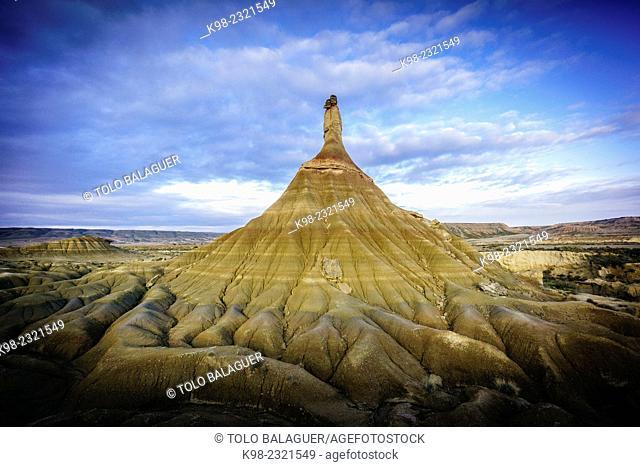 Castilltierra, Bardenas reales.Reserva de la Biosfera,comunidad foral de Navarra, Spain