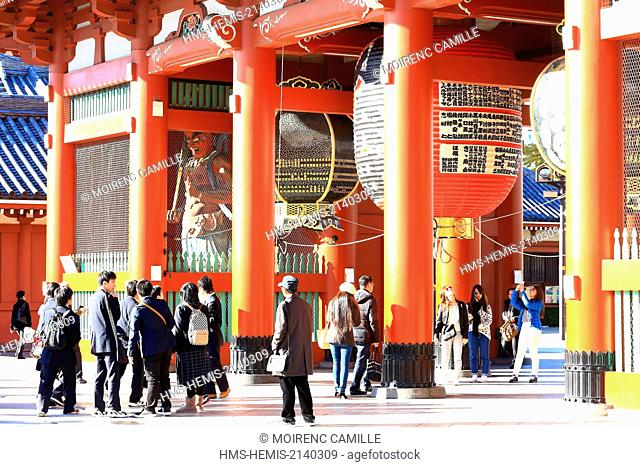Japan, Honshu island, Tokyo, Taito, Asakusa district, Senso-ji Buddhist Temple, Kaminarimon