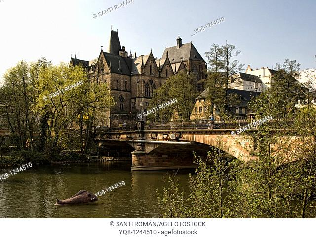 Philipps University, old university, Marburg, Hesse, Germany
