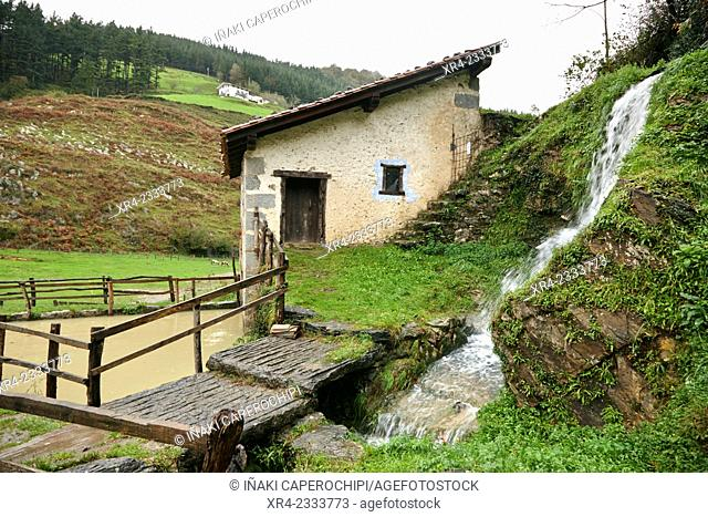 Mills of Plazaola, Lastur Quarter, Deba, Gipuzkoa, Basque Country, Spain