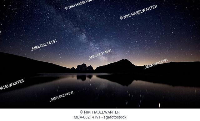 Milky Way over the Lago delle Baste in South Tyrol