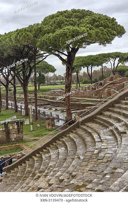 Ruins of ancient Roman Ostia Antica, Lazio, Italy
