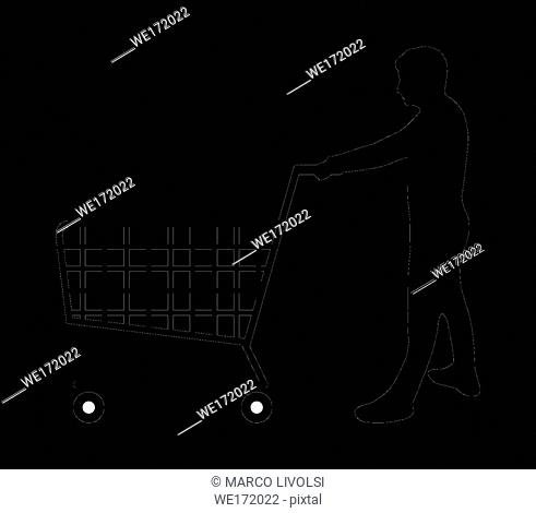 man with shopping cart