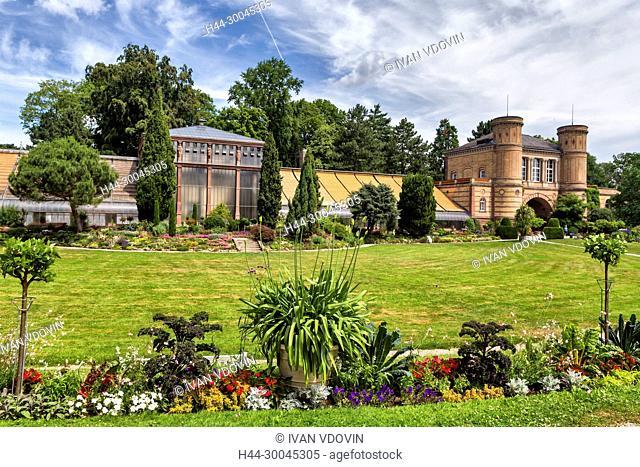 Orangerie (1857), Botanical Gardens, Castle Grounds, Karlsruhe, Baden-Wurttemberg, Germany