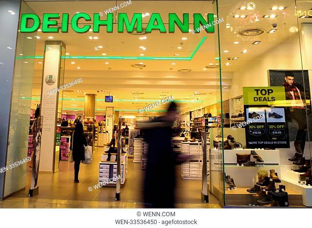 High street stores in Westfield Stratford, London Featuring: Deichmannn Where: London, United Kingdom When: 10 Nov 2017 Credit: WENN.com