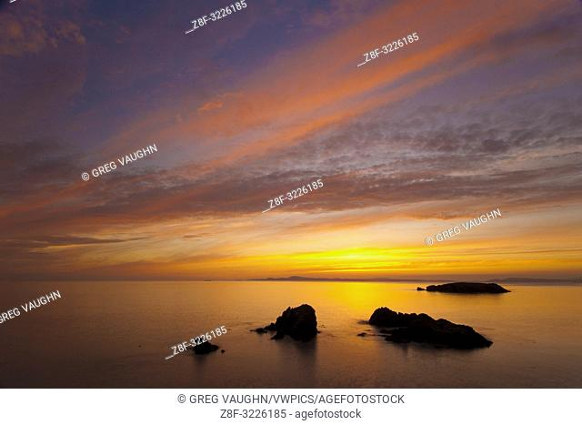 Sunset at Rosario Beach, Deception Pass State Park, Fidalgo Island, Washington