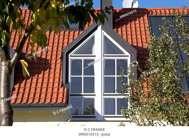 Window on roof of house
