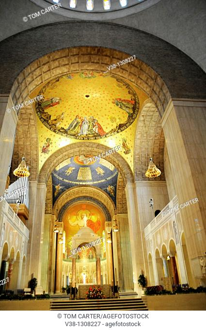 Inside the Shrine of the Immaculate Conception in Washington, DC