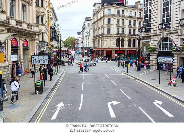 Road to Trafalgar square,London England