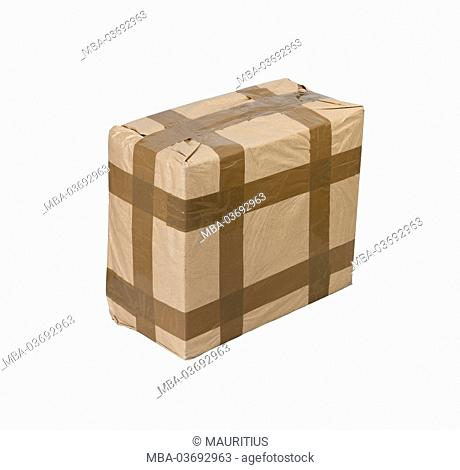 Package with adhesive tape, studio