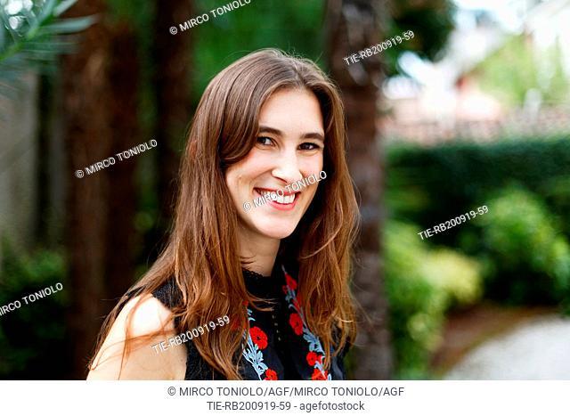 The writer Katherine Rundell poses for photographers at Literature Festival Pordenonelegge 2019, Pordenone, ITALY-19-09-2019