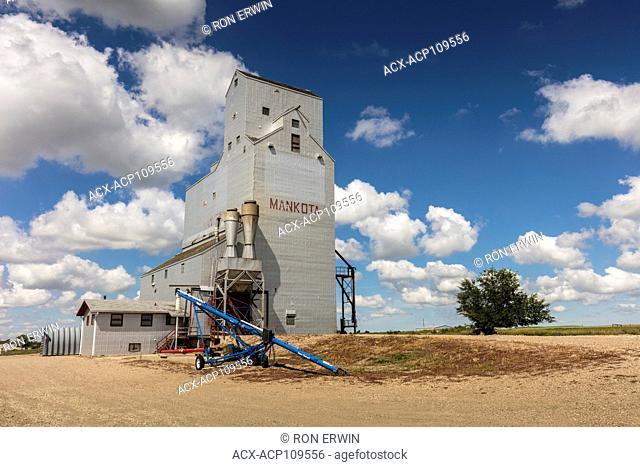 Mankota Grain Elevator in southern Saskatchewan, Canada