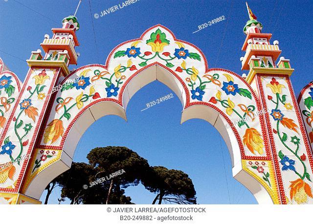 Arch, entrance to carnival area. Puerto de Santa María. Cádiz province. Spain