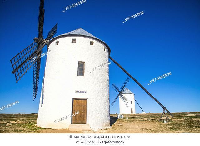 Windmills. Campo de Criptana, Ciudad Real province, Castilla La Mancha, Spain