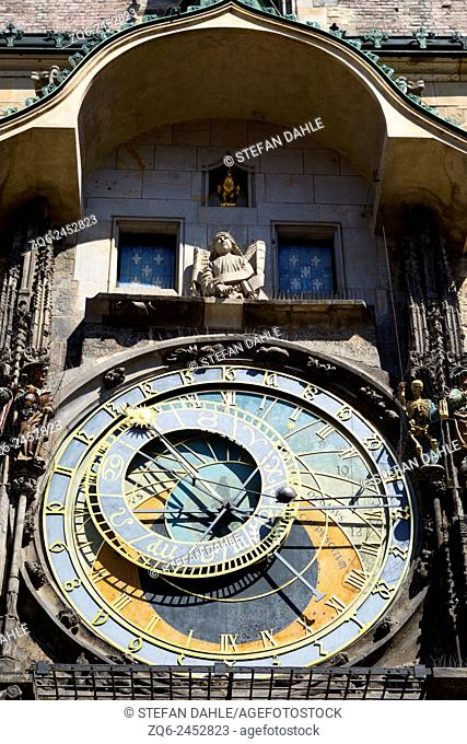 Astronomical Clock on the Town House in Prague, Czechia