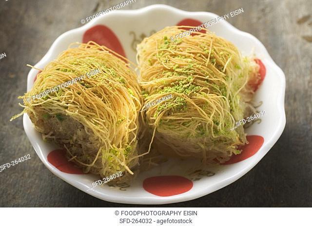Kadayif Shredded pastry dessert, Turkey