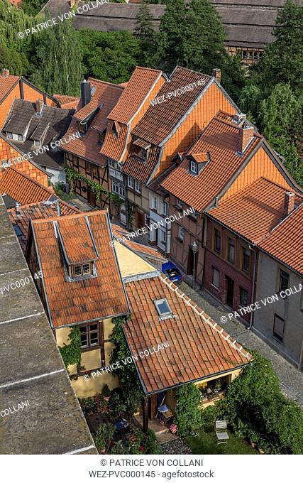 Germany, Saxony-Anhalt, Quedlinburg, Old town centre