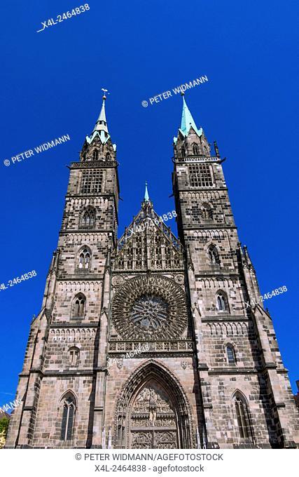 Lorenzkirche church, Nuremberg, Middle Franconia, Bavaria, Germany, Europe