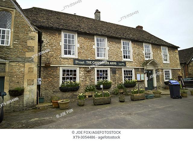 The Carpenters Arms pub Lacock village wiltshire england uk