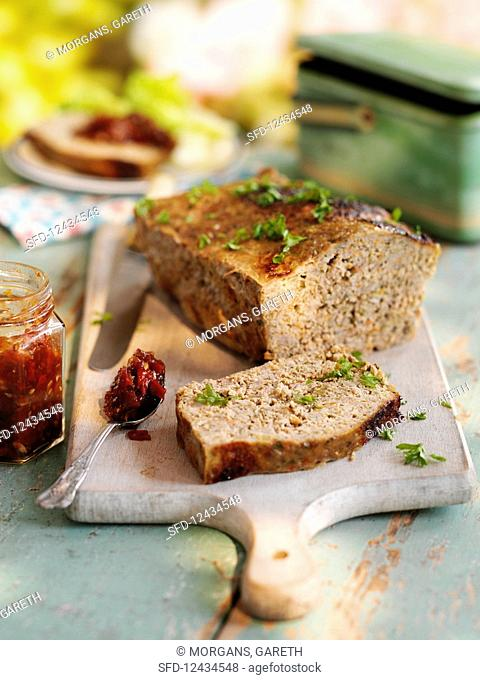 Ultimate family meat loaf with tomato chilli jam