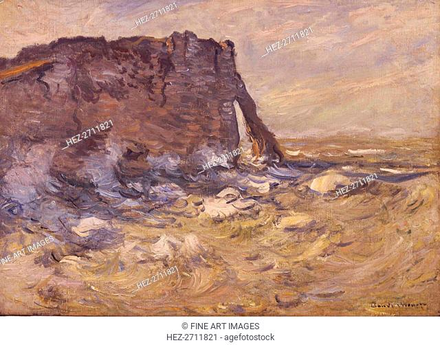 Cliff and Porte d'Aval by Stormy Weather, 1883. Creator: Monet, Claude (1840-1926)