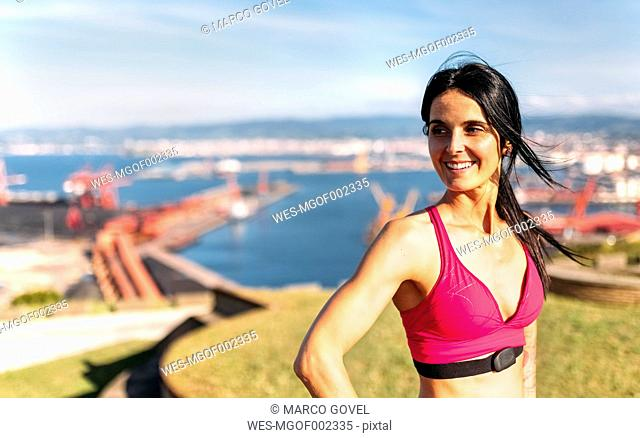 Gij+¦n, Asturias, Spain, fitness woman outdoors