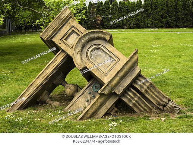 Sculpture, Tip, by artist John Radford, in Western Park in Ponsonby, Auckland, New Zealand