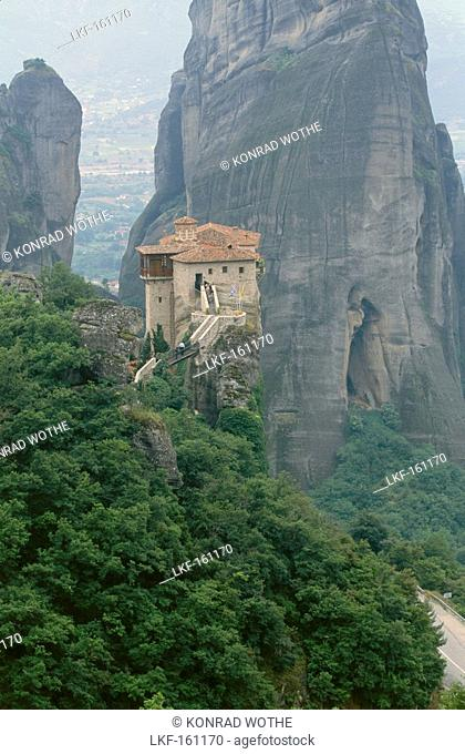 The Holy Monastery of Russanu in Meteora, Thessaly, Greece