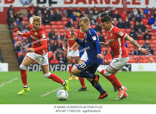 2017 EFL Championship Barnsley v Hull City Oct 21st. 21st October 2017, Oakwell, Barnsley, England; EFL Championship football