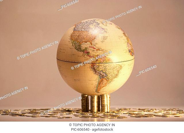 Coins And Globe