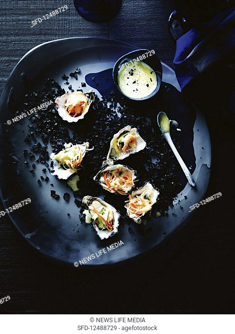 Oysters with beurre blanc