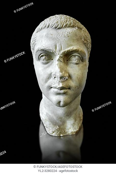 Roman sculpture bust of Gordian III made between 238 and 244 AD and excavated from Ostia. The National Roman Museum, Rome, Italy