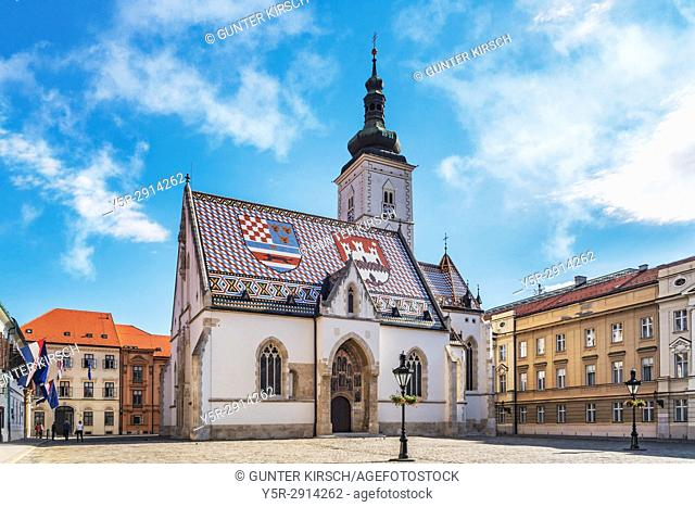 The Church of St. Mark is the parish church in the upper town (Gornji Grad) from Zagreb, Croatia, Europe