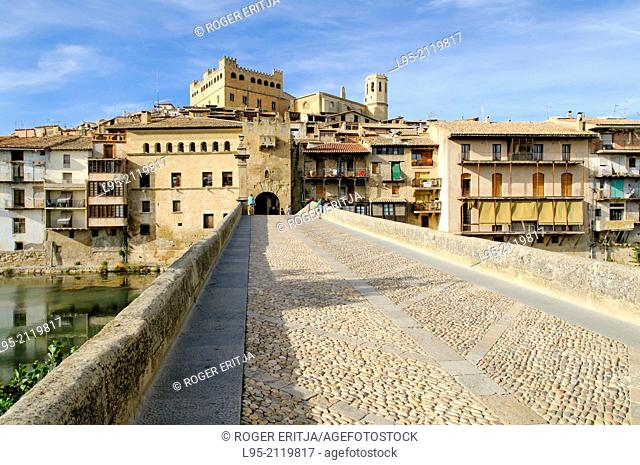 Main entrance to the fortified town of Valderrobres, Spain