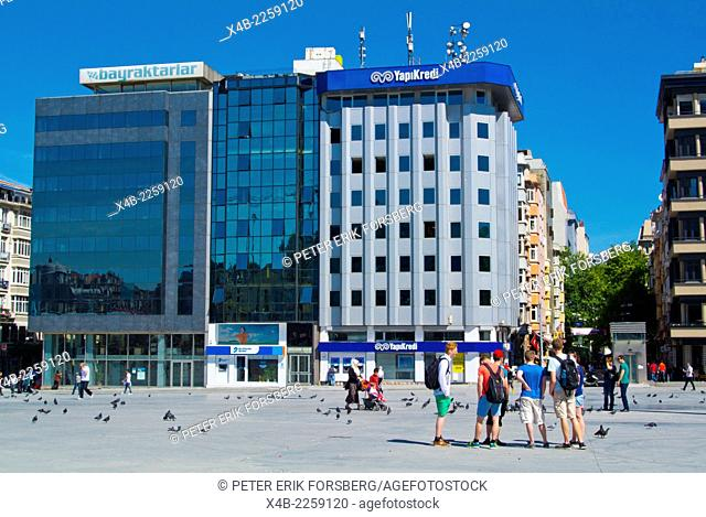 Taksim square, Beyoglu district, central Istanbul, Turkey, Europe