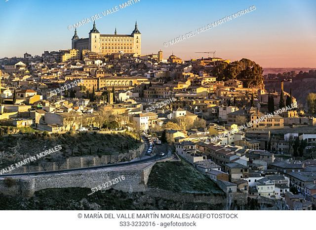 Alcazar of Toledo early in the morning. Spain. Europe