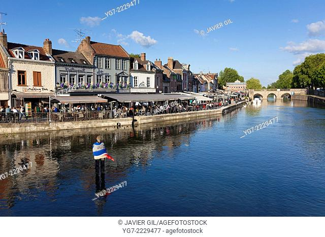 Saint Leu neighbourhood in Amiens, Somme, Picardy, France
