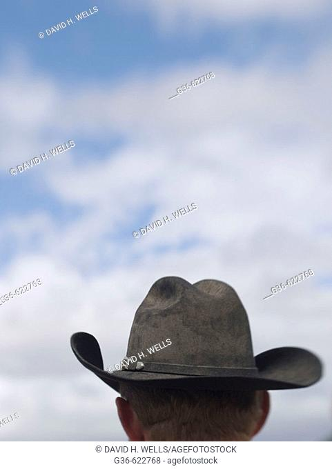 Cowboy hats on cowboys in Tucson, Arizona