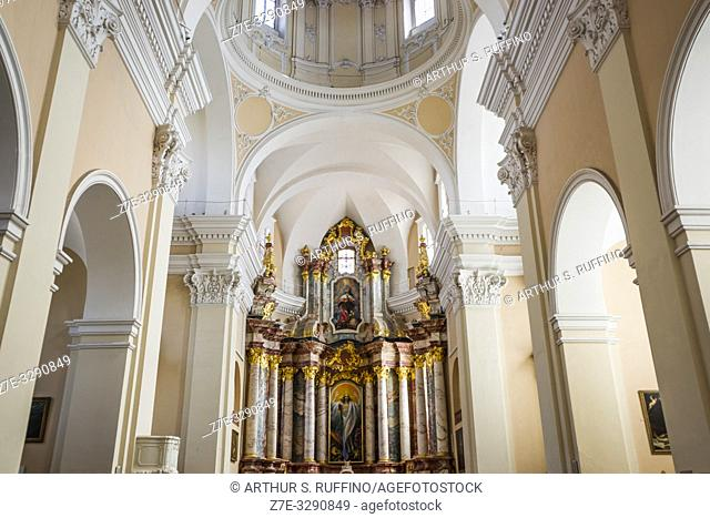 Interior of Church of St. Casimir. Old Town, Vilnius, Lithuania, Baltic States, Europe